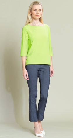 Rectangular Boat Neck Hi-Low Top - Lime - Limited Sizes - XS, M, L