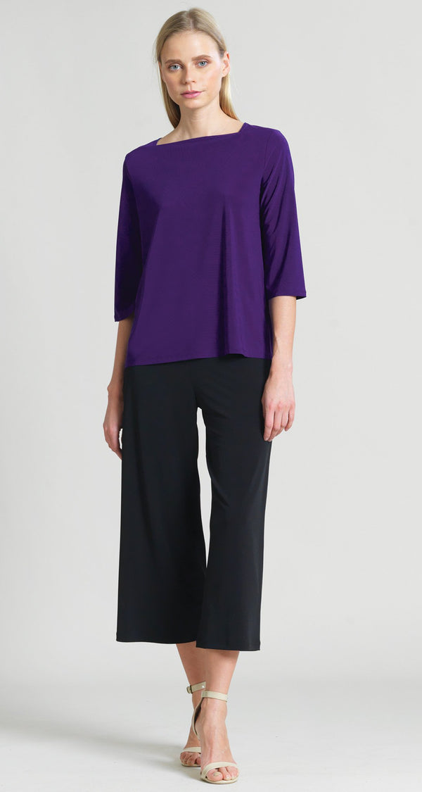 Rectangular Boat Neck Hi-Low Top - Purple- Final Sale! - Clara Sunwoo