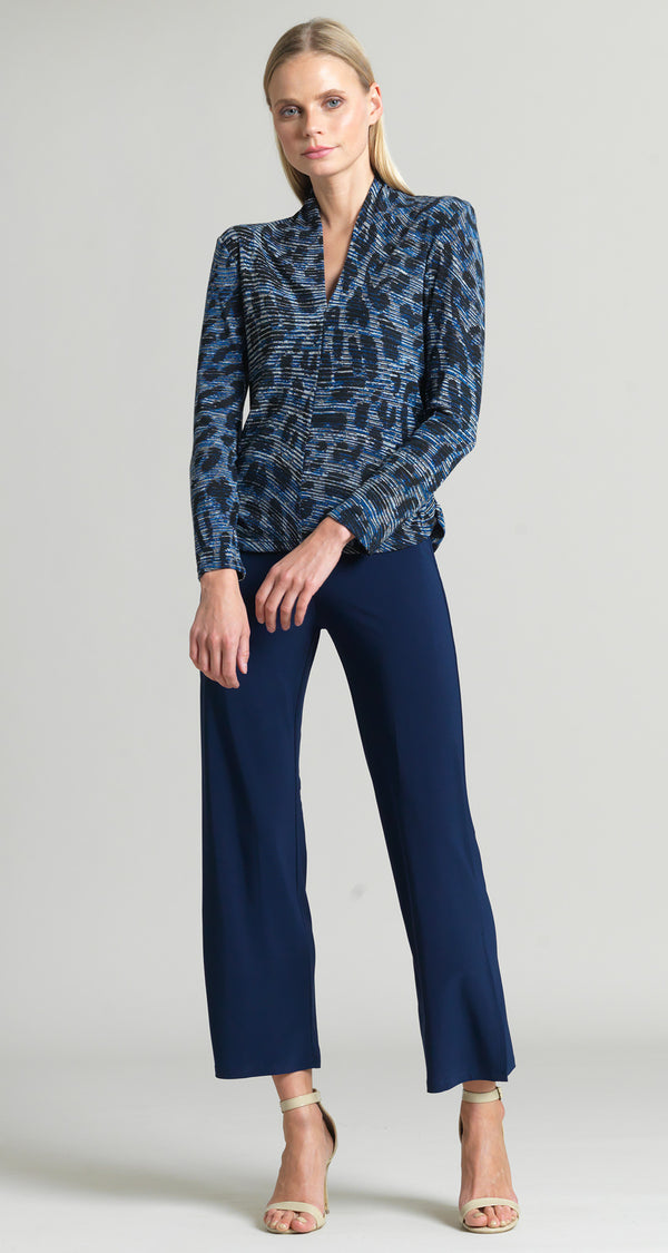 Animal Print Narrow V-Neck Sweater Top - Final Sale!