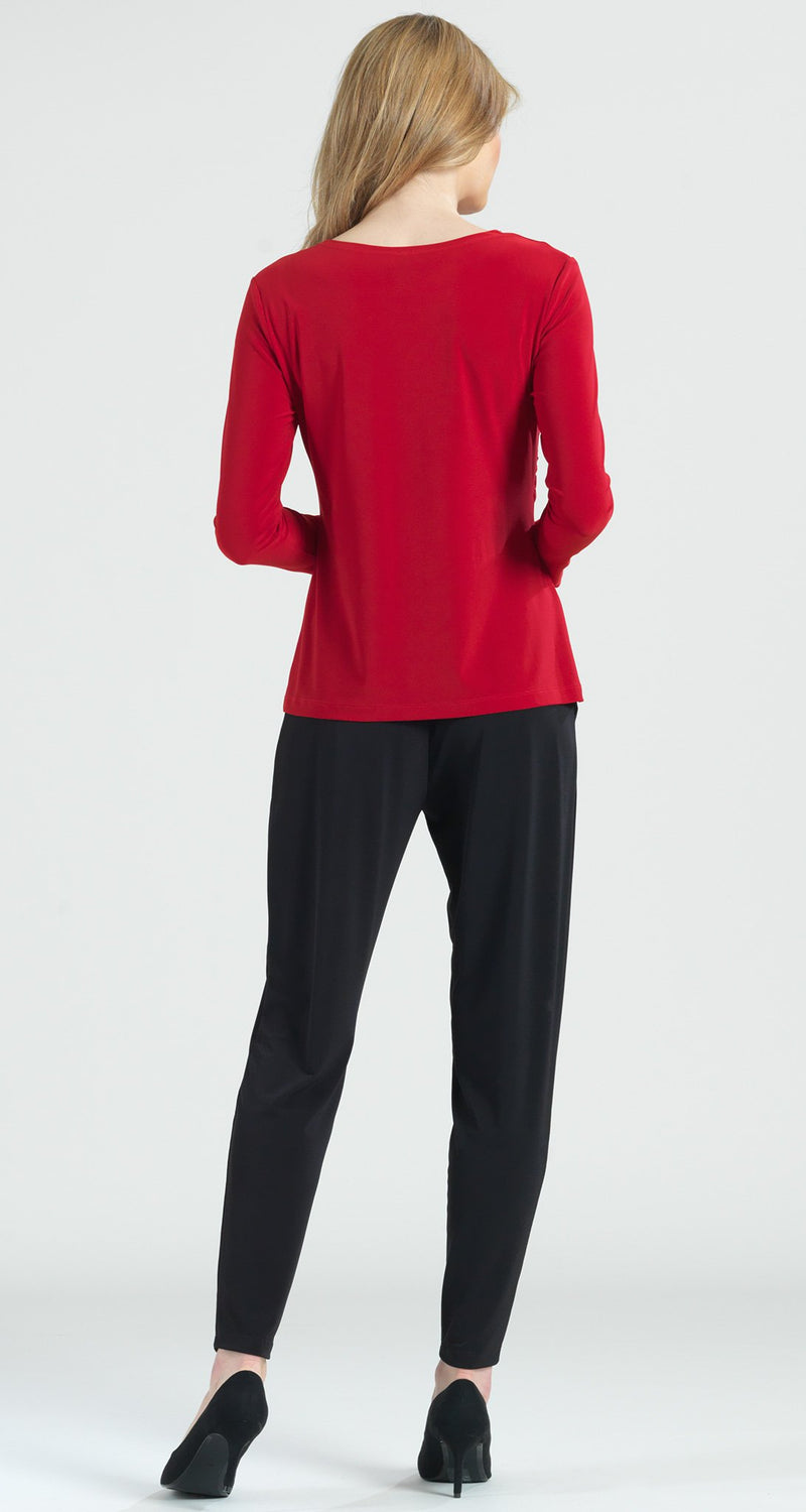 Side Ruched Top - Red