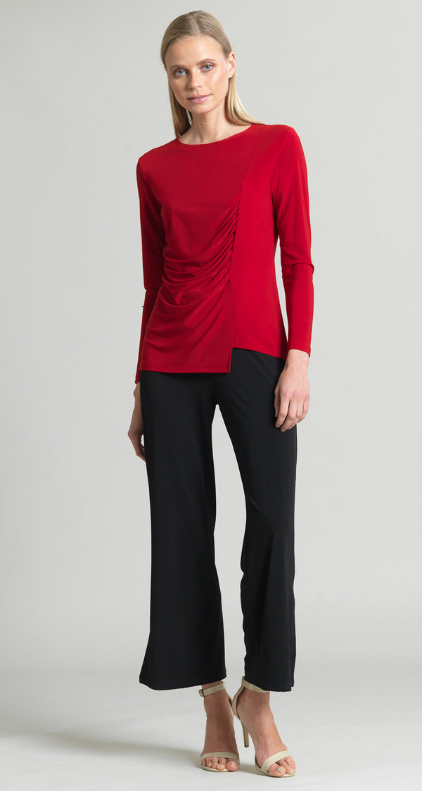 Side Ruched Top - Red - As seen on Hoda Kotb! - Clara Sunwoo