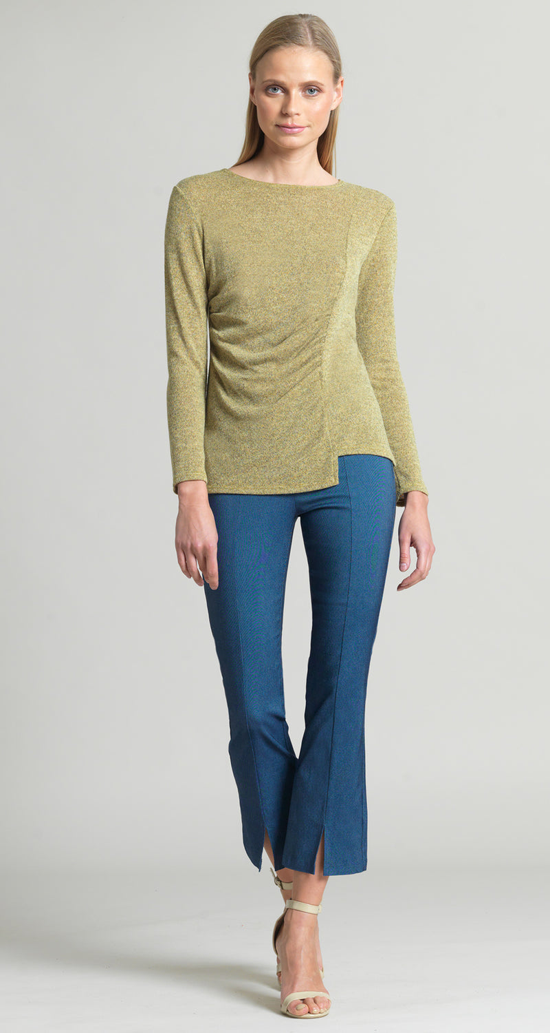 Cozy Ruched Side Sweater Top - Moss - Final Sale! - Clara Sunwoo