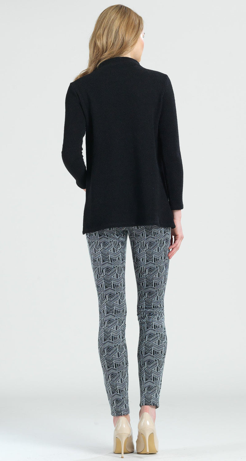 Cozy Funnel Neck Twill Sweater Top - Black - Final Sale! - Clara Sunwoo