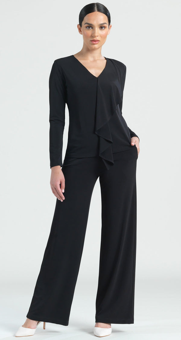 Cascade Drape Top - Black - Final Sale! - Clara Sunwoo