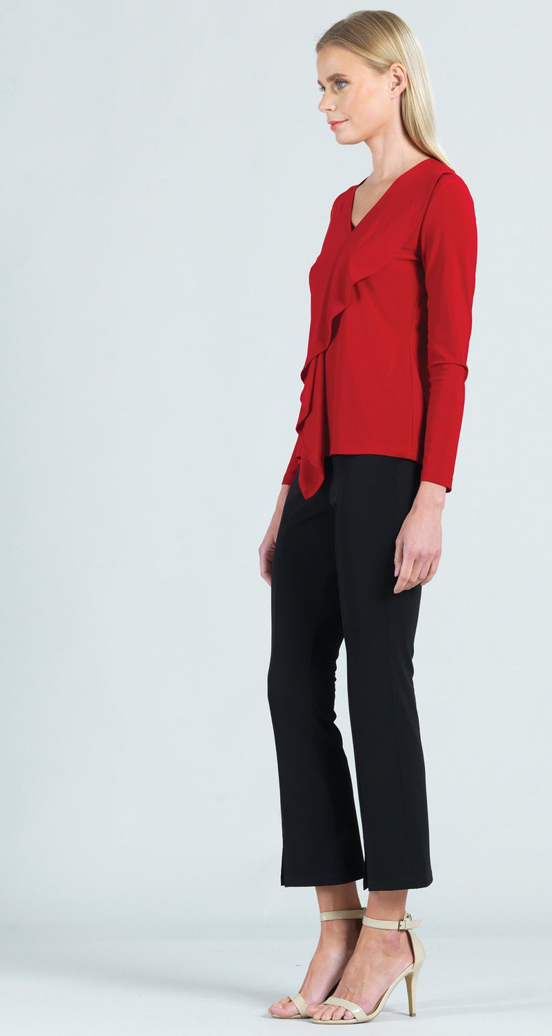 Cascade Drape Top - Red - Final Sale!