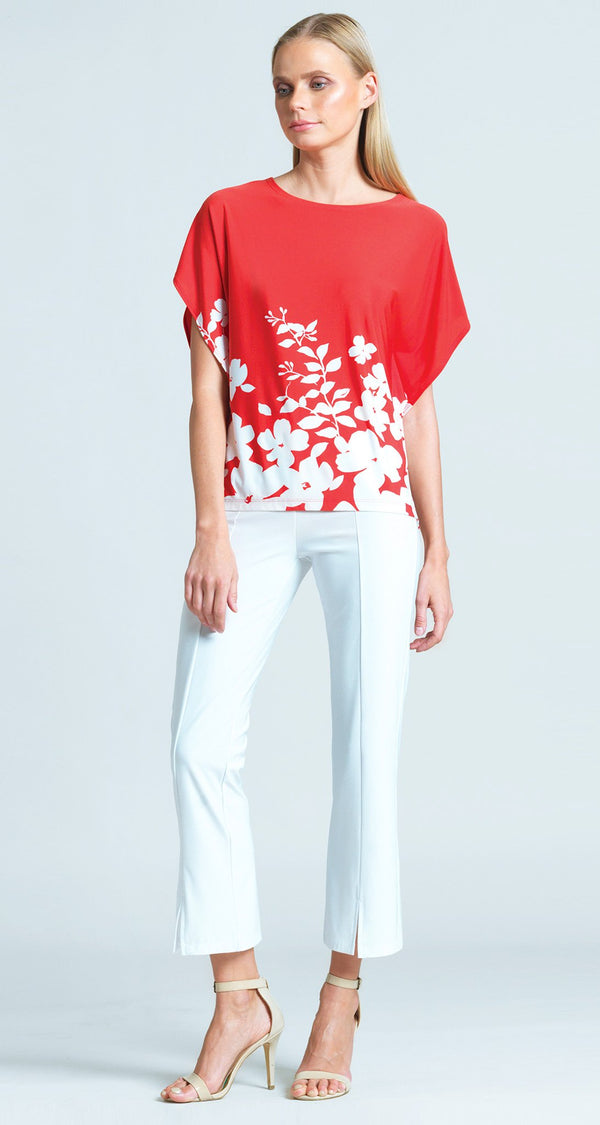 Floral Vine Print Modern Top - Coral - Final Sale!