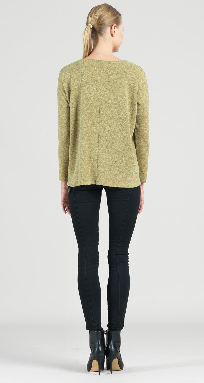 Cozy Crossover Under Loop Overlay Sweater Top - Moss - Final Sale!