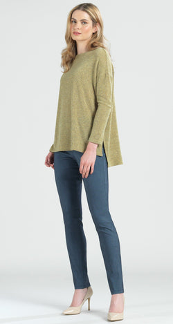 Cozy High-Low Sweater Tunic - Moss - Final Sale! - Clara Sunwoo