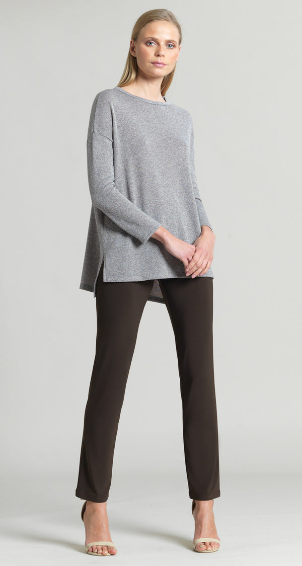 Cozy High-Low Sweater Tunic - Sand - Final Sale!