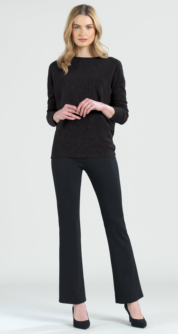 Ribbed Sweater Top - Black - Final Sale! - Clara Sunwoo