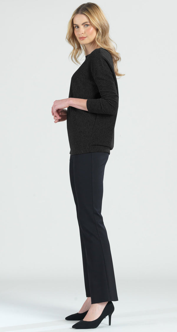 Ribbed Sweater Top - Black - Final Sale!