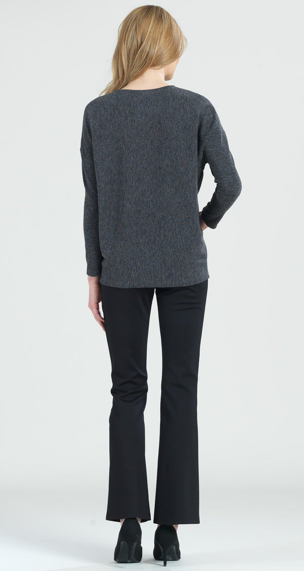 Ribbed Sweater Top - Grey - Final Sale! - Clara Sunwoo
