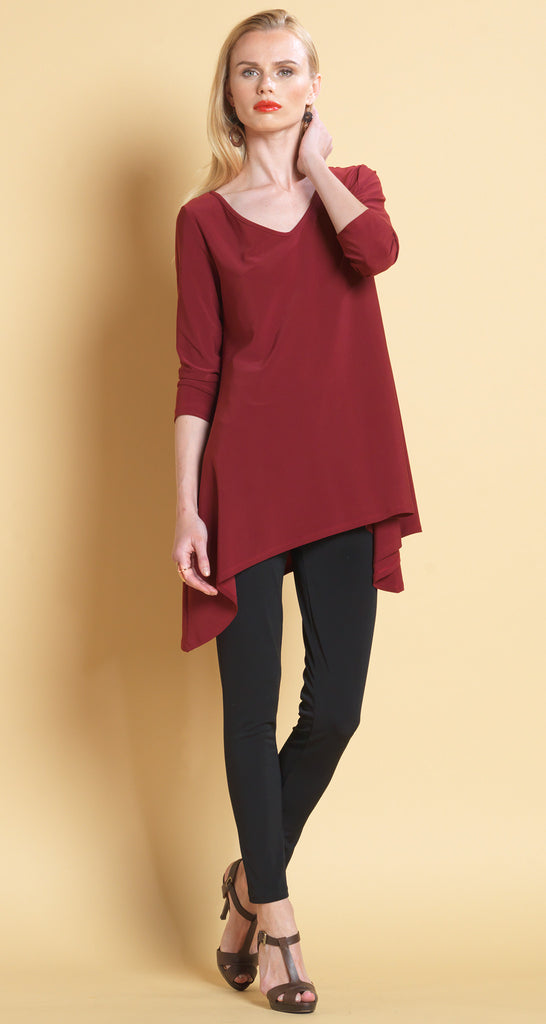 Side Point Tunic - Merlot - Final Sale!