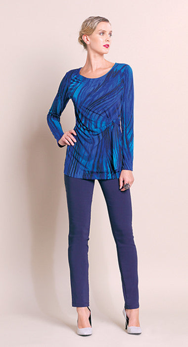 Faux Side Wrap Tunic - Blue - Final Sale!