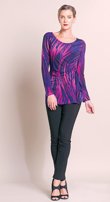 Faux Side Wrap Tunic - Fuchsia - Final Sale!