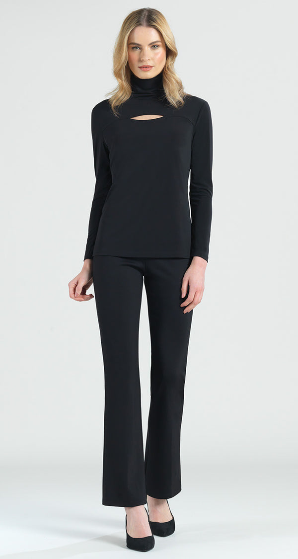 Mock Neck Front Cut Out Top - Final Sale! - Clara Sunwoo