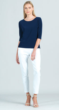 Solid Basic Scoop Neck Half Sleeve Top - 5 Colors