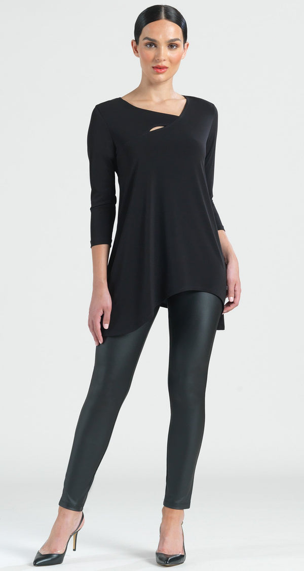 Angle Neckline Cut Out Accent Tunic - Clara Sunwoo