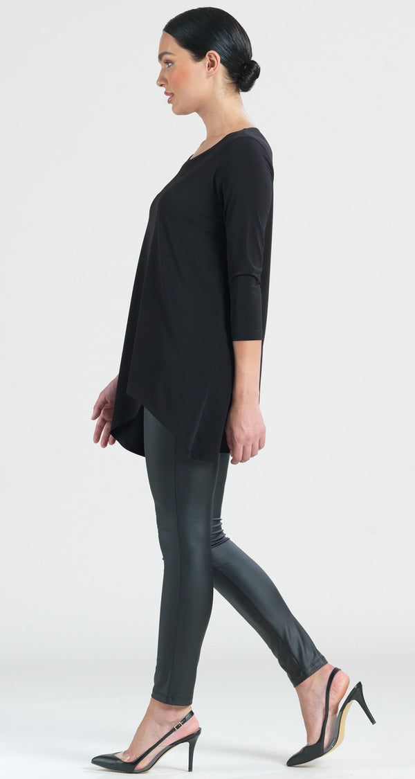 7ac3a83be76 Angle Neckline Cut Out Accent Tunic - Clara Sunwoo ...