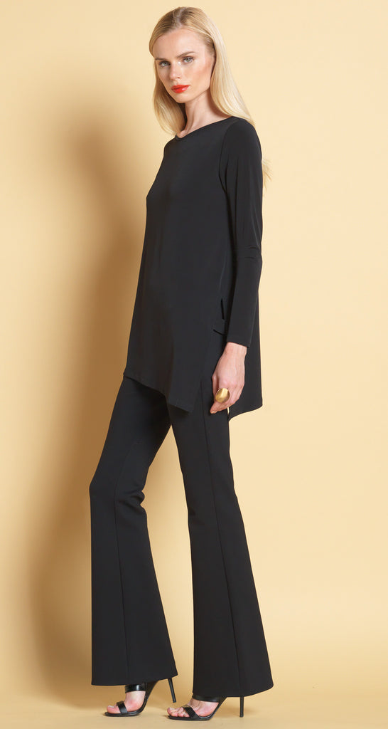 V Point Neck Tunic - Black - Final Sale!
