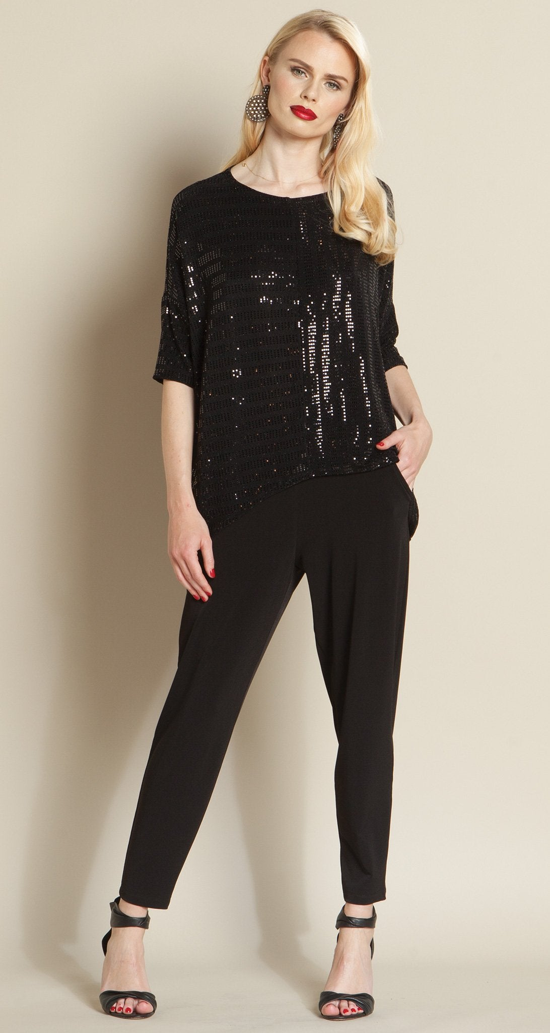 4235981983240f Shimmer Sequin Box Top - Black - As seen on Today Show! - Clara Sunwoo