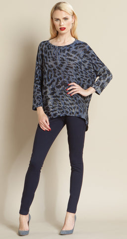Animal Wave Sweater Top - Blue/White - Final Sale!
