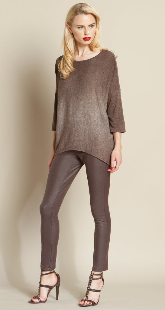 Ombre Modern Sweater Top - Brown