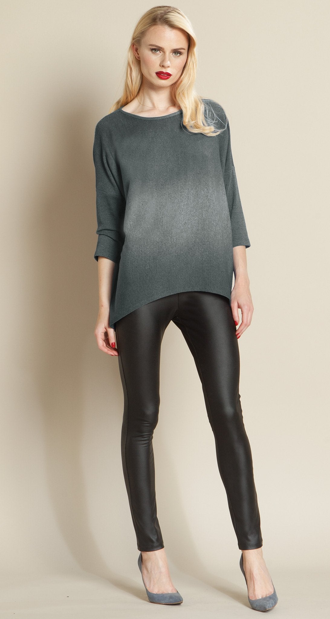 Ombre Modern Sweater Top - Charcoal - Clara Sunwoo