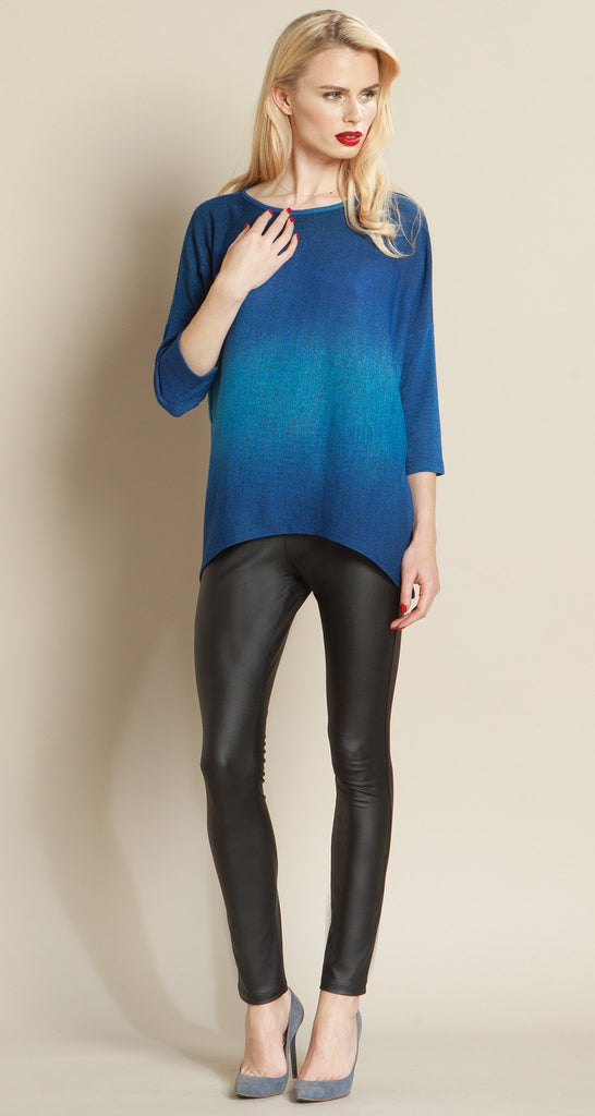 Ombre Modern Sweater Top - Royal Blue