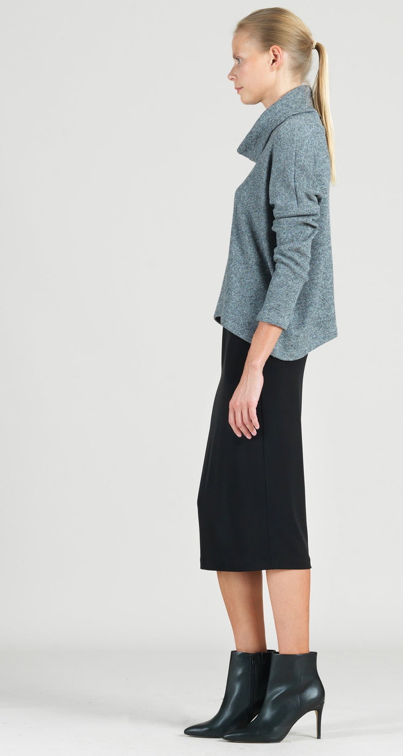 Cozy Tipped Hem Sweater Top - Grey