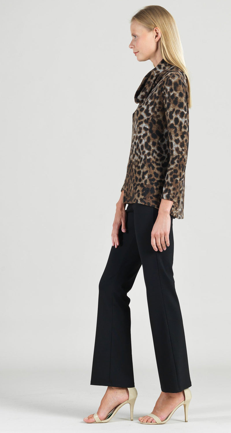 Cozy Cheetah Print Cowl Turtleneck Sweater Top - Limited Sizes XS & 1X ONLY!