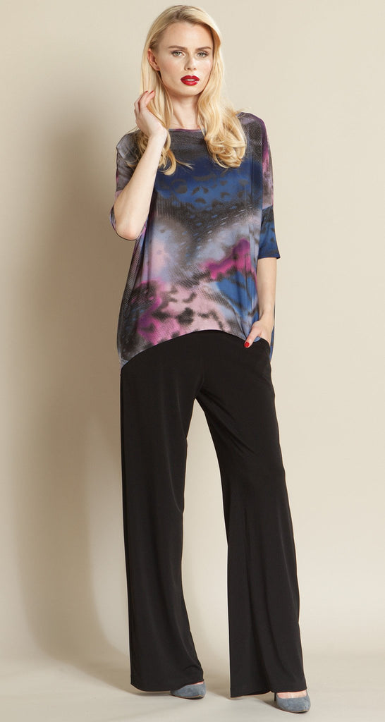 Butterfly Abstract Tipped Hem Top