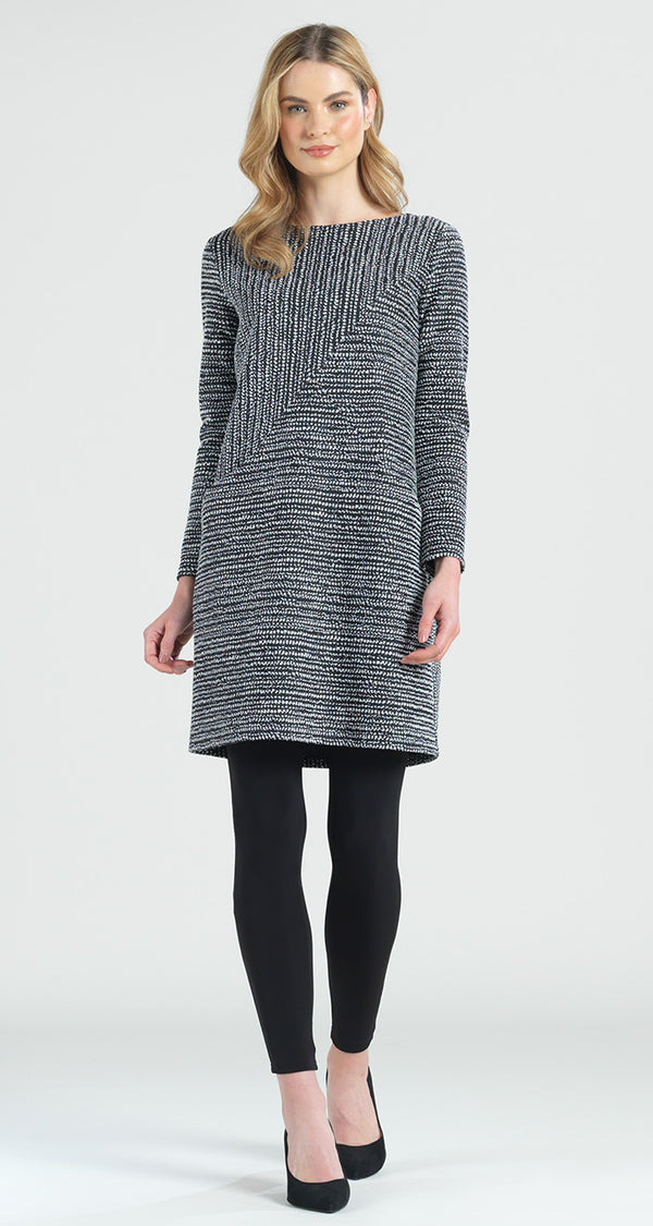 Jacquard Braid Print Tunic Pocket Dress - Clara Sunwoo