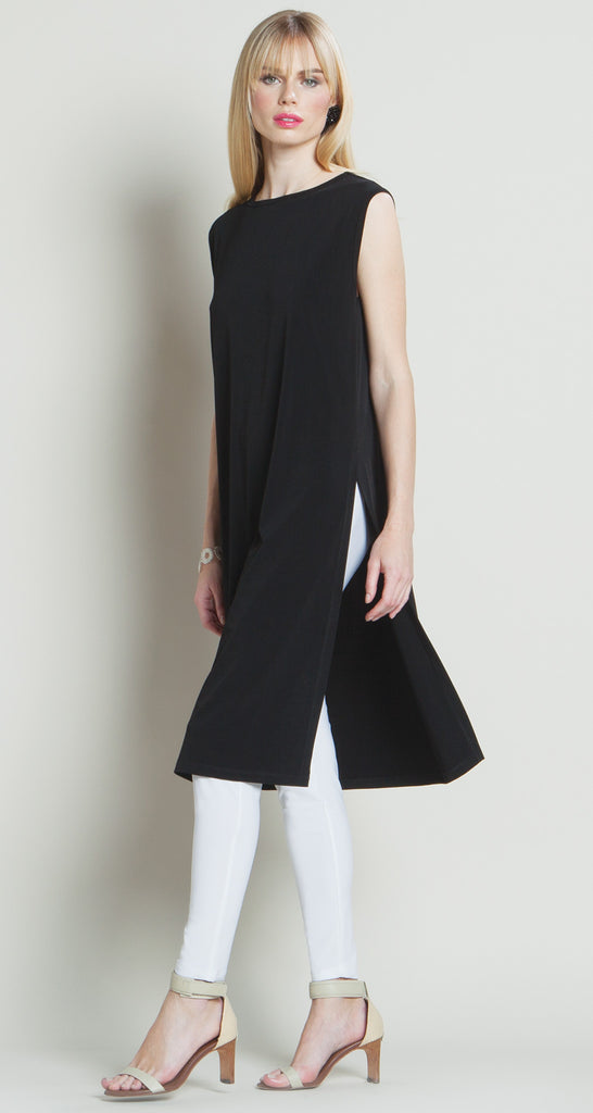 Sleeveless Long Side Vent Tunic - Final Sale!