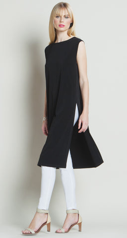 Sleeveless Long Side Vent Tunic