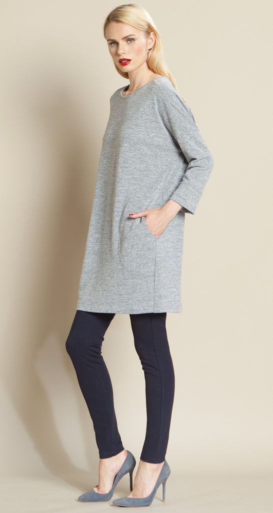 Stitched Pocket Sweater Tunic