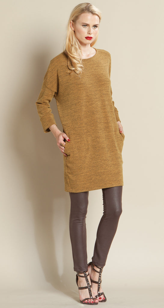 Stitched Pocket Sweater Tunic - Honey - Final Sale!