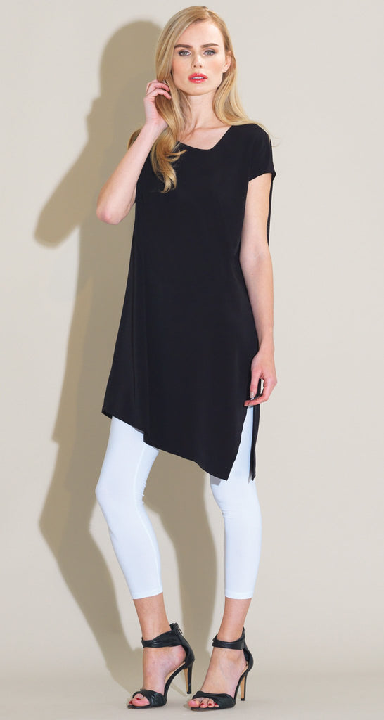 Modern Cap Sleeve Loose Tunic - Solid