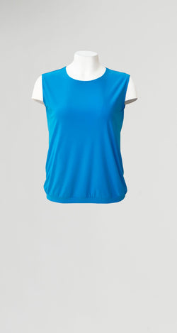 Solid Blouse Tank - Turquoise - Final Sale! - Clara Sunwoo