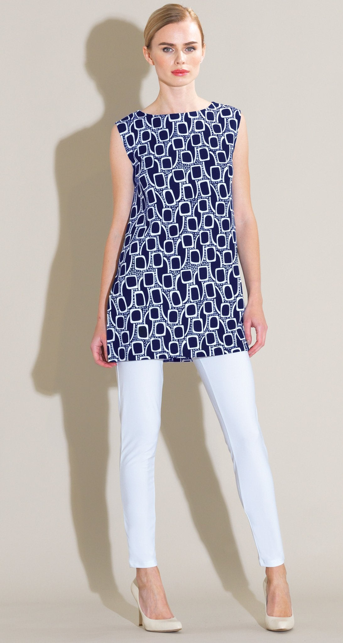 Mod Inspired Square Tunic Tank - Navy/White - Final Sale! - Clara Sunwoo