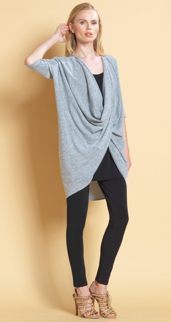 Crossover Under Loop Sweater - Grey - Final Sale!