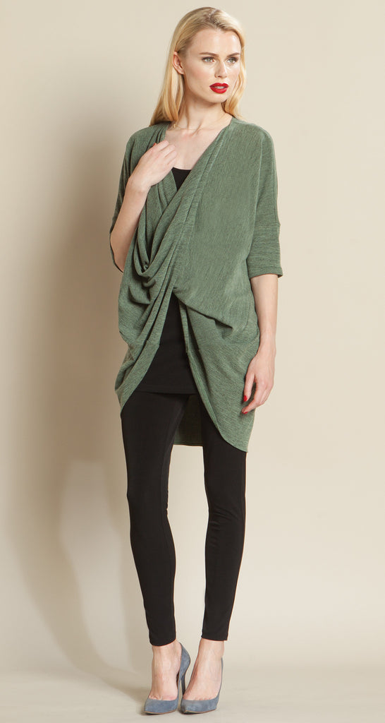 Crossover Under Loop Sweater Tunic - Olive