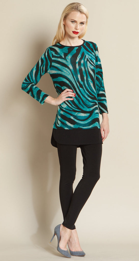 Zebra Print Sweater Tunic