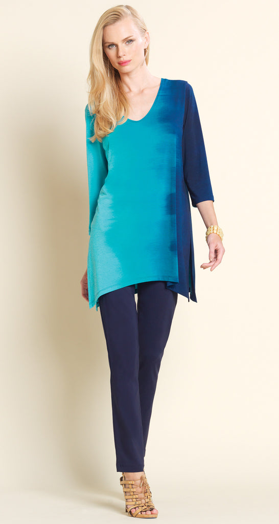 Ombre V-Neck Tunic - Turquoise - Final Sale!