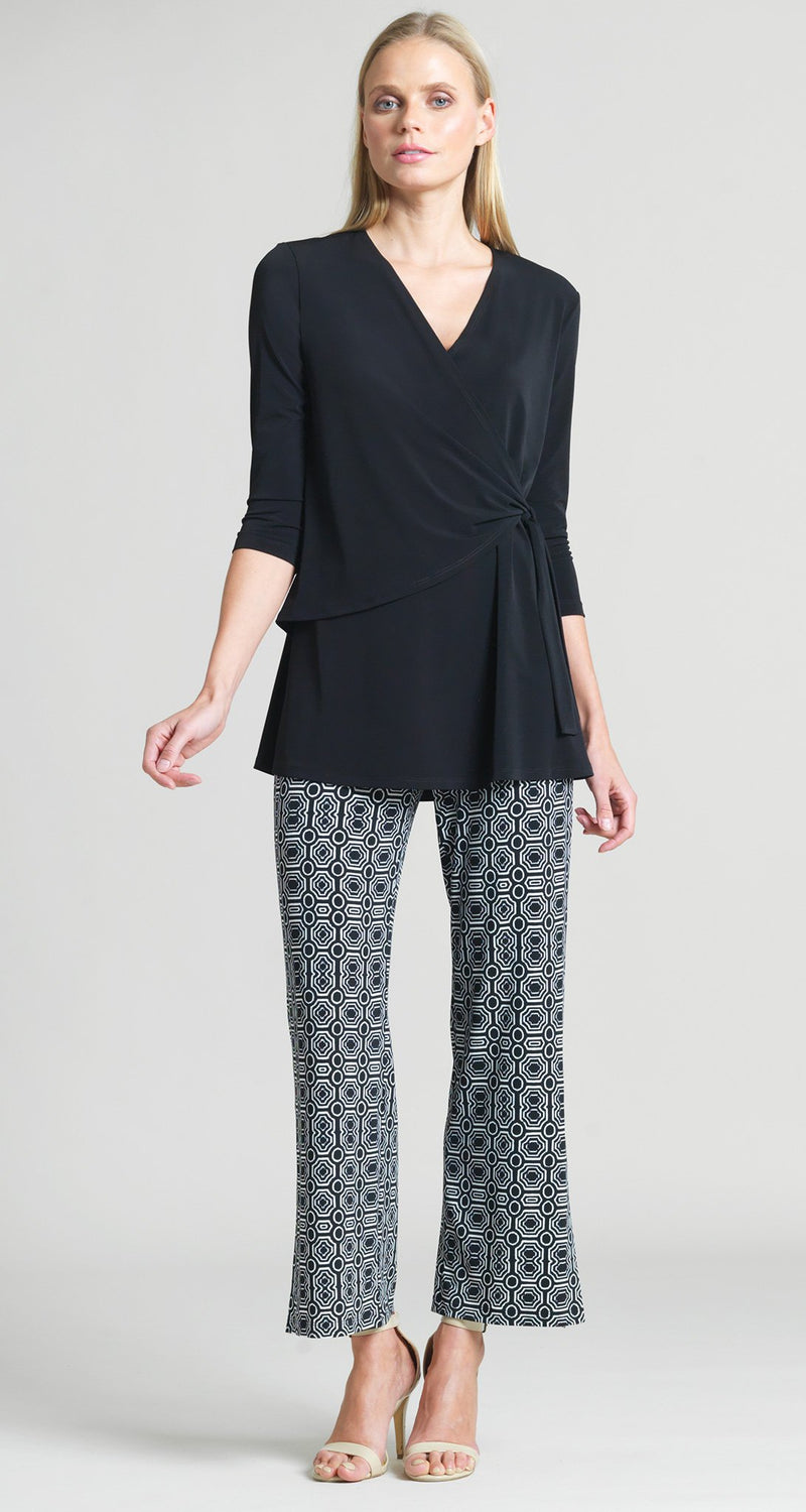 Solid Side Tie Wrap Tunic - Clara Sunwoo