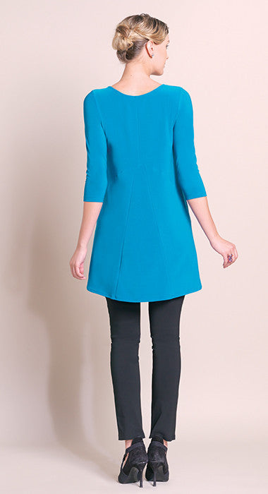 High-Low Stitch Tunic - Aqua - Final Sale!