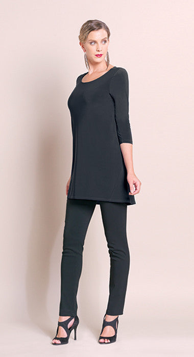 High-Low Stitch Tunic - Black - Final Sale!
