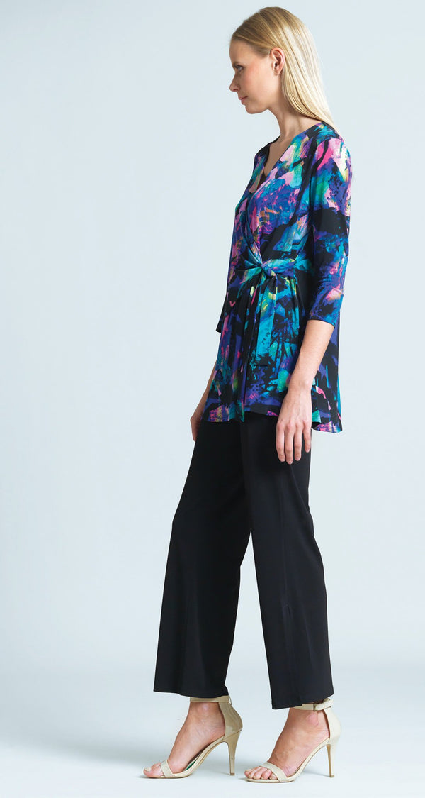 Neon Splash Print Side Tie Wrap Tunic - Final Sale!