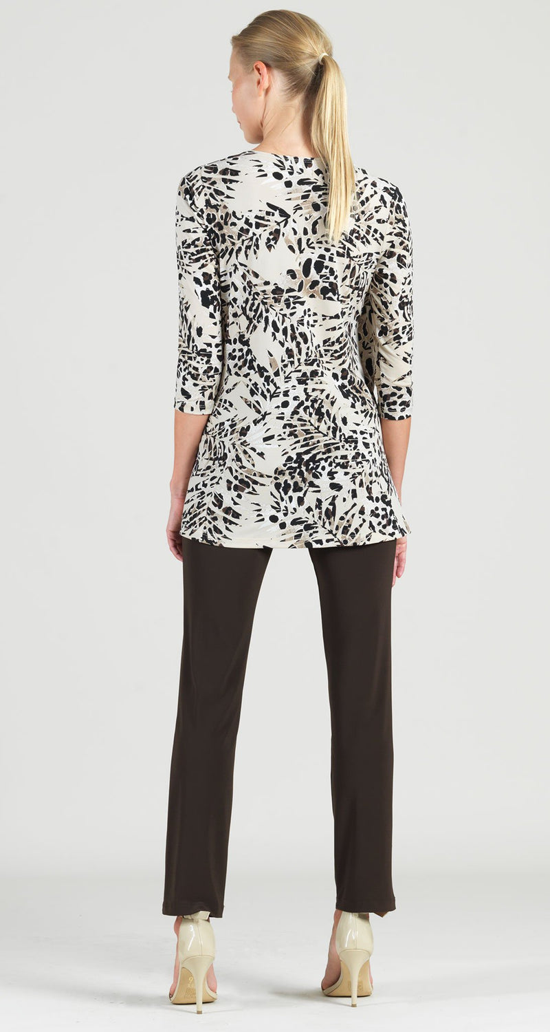 Palm Animal Print Side Tie Wrap Tunic