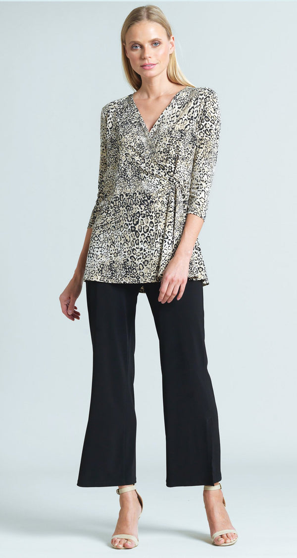 Cheetah Print Side Tie Wrap Tunic - Final Sale!